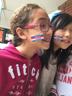 Castle Rock Elementary students joined a mock election.  Photo courtesy: WVUSD
