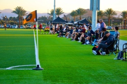 Over 250 college coaches from around the country and representatives of the U.S. National Team Scouts were on hand to evaluate aspiring female soccer players for scholarship and national team opportunities.  Photo courtesy: Lelani Kroeker