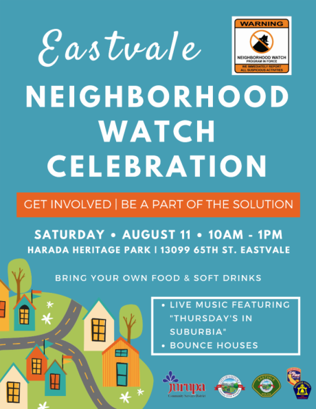 Eastvale Neighborhood Watch Celebration - Final Flyer