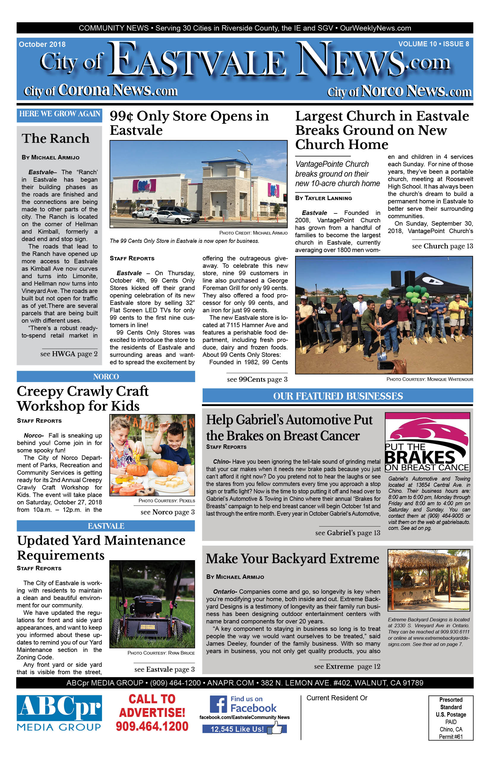 Cover.Oct.2018.EastvaleNews